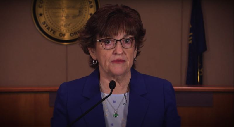 SCREENSHOT - YOUTUBE - Clackamas County Chair Tootie Smith said she plans to introduce new restrictions on public comment which would include a total time limit of 30 minutes and just two minutes per speaker at the end of Thursday business meetings.