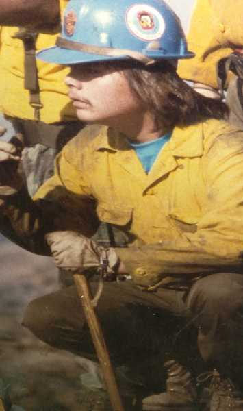 PHOTO COURTESY OF KAYLEEN CLEMENTS  - Luther Clements was a fire crew superintendent at age 24.