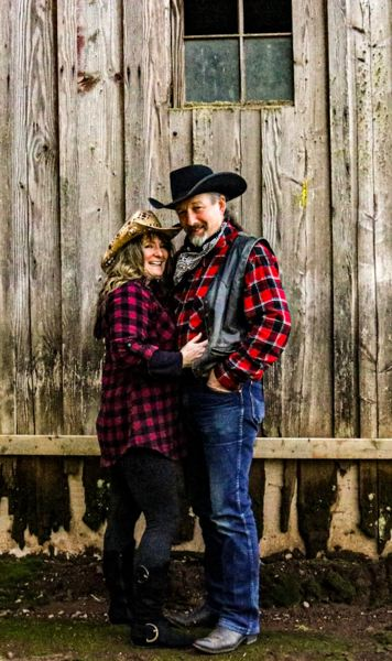 COURTESY PHOTO  - Rhonda Abbett-Carey and Robin Carey have been married for seven years and plan to keep Valentines Day low-key this year.