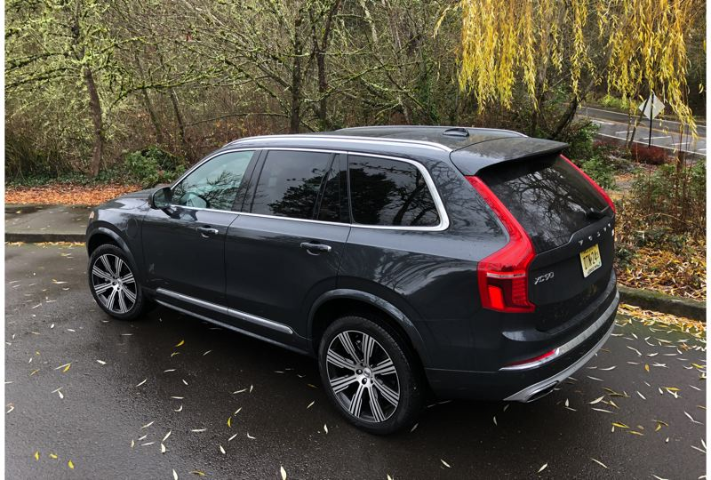 PMG PHOTO: JEFF ZURSCHMEIDE - The all-wheel-drive XC90 is rated to tow up to 5,000 pounds with this plug-in hybrid drivetrain.