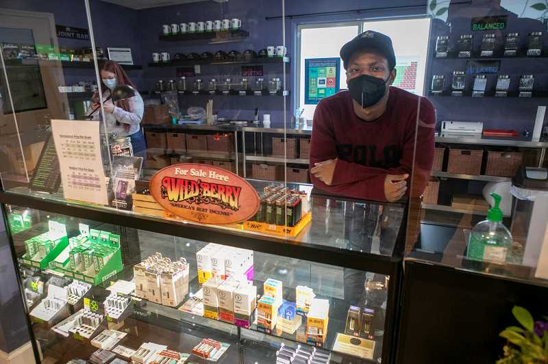 PMG PHOTO: JAIME VALDEZ - Ben Wiens is the manager of Western Oregon Dispensarys Sherwood location. The business has been selling medical marijuana for five years and has now added recreational sales following the passage of Measure 34-299 in November.