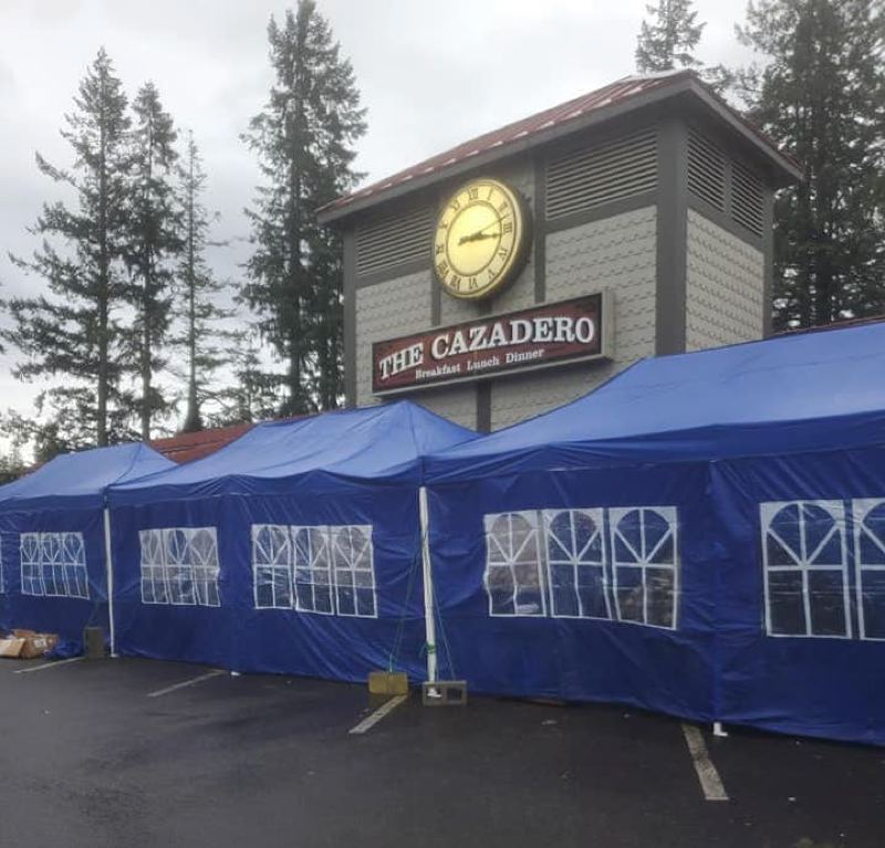 COURTESY PHOTO - Along with outdoor dining, The Cazadero will now offer a limited amount of indoor seating.