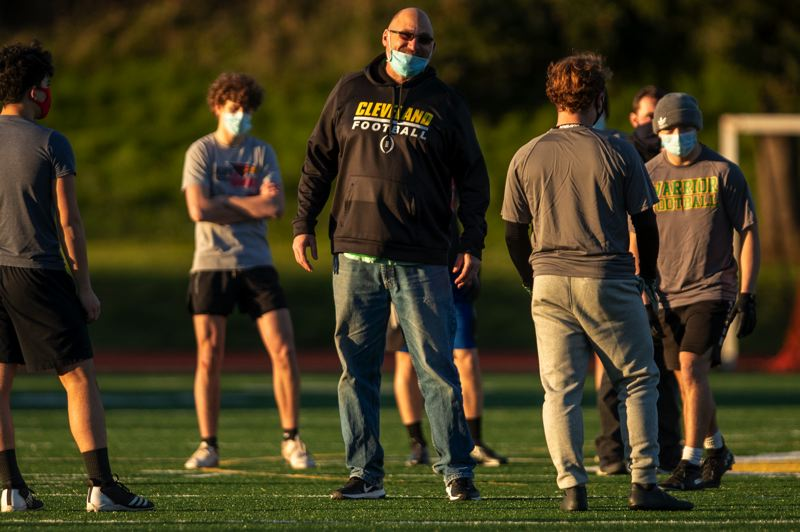 PMG PHOTO: JAIME VALDEZ - Bill Smith is in his first season coaching football at Cleveland High, one of five first-year head coaches at PIL schools.