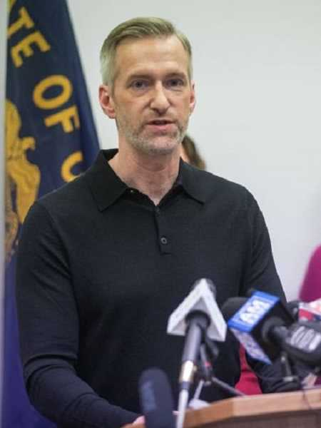 PMG FILE PHOTO - Portland Mayor Ted Wheeler during a press conference in 2020. Wheeler was confronted by a man outside a Hillsdale restaurant in late January and resorted to using pepper spray.