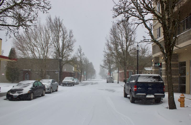 PMG PHOTO: CHRISTOPHER KEIZUR - Downtown Gresham is quiet as most are choosing to stay inside when possible.