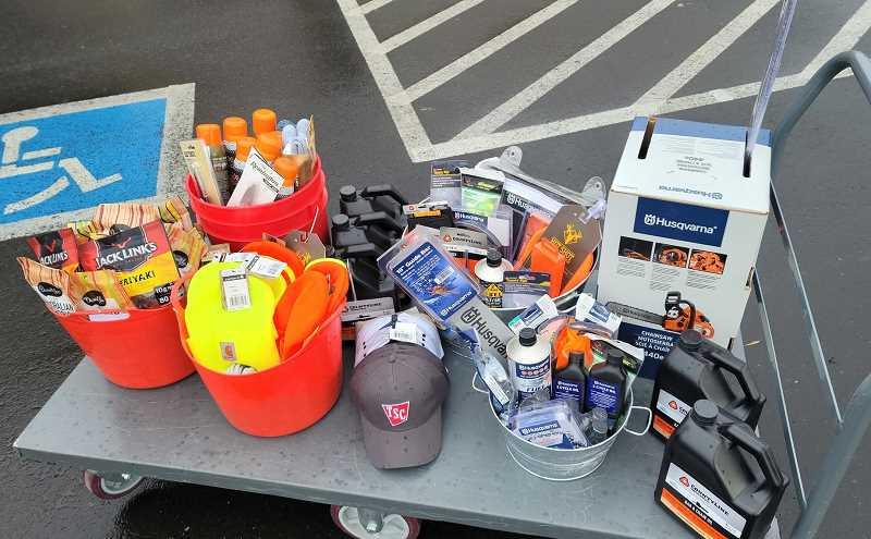 COURTESY PHOTO: COLTON FIRE - Thank-you gifts from Tractor Supply Co. to Colton volunteer firefighters.