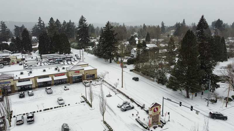 PMG PHOTO: ALVARO FONTAN - A drone was used to take this aerial view of east Milwaukie on Feb. 12.