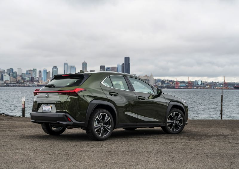 COURTESY LEXUS - The attention to design is apparent even at the reat of the 2021 Lexus UX 200.