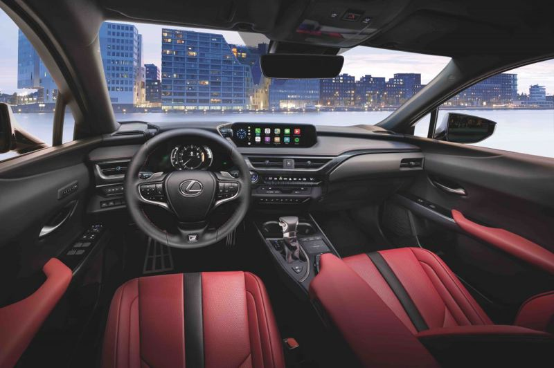 COURTESY LEXUS - The interior of the 2021 Lexus UX 2021 features high quality materials and advanced tech.