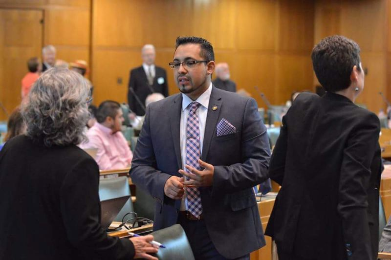 PMG FILE PHOTO  - State Rep. Diego Hernandez is suing the state Legislature and leaders to block any action on a harassment complaint against him.