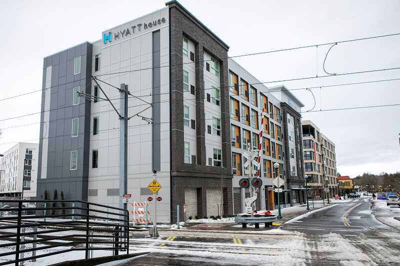 PMG PHOTO: JAIME VALDEZ - An exterior of the new Hyatt House hotel in Beaverton.