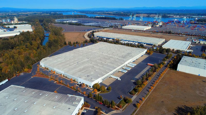 COURTESY PHOTO: CBRE - PCCP just bought Bybee Lake Logistic Center I & II for $82.5 Million. The site is near the Port of Portland and major highways.