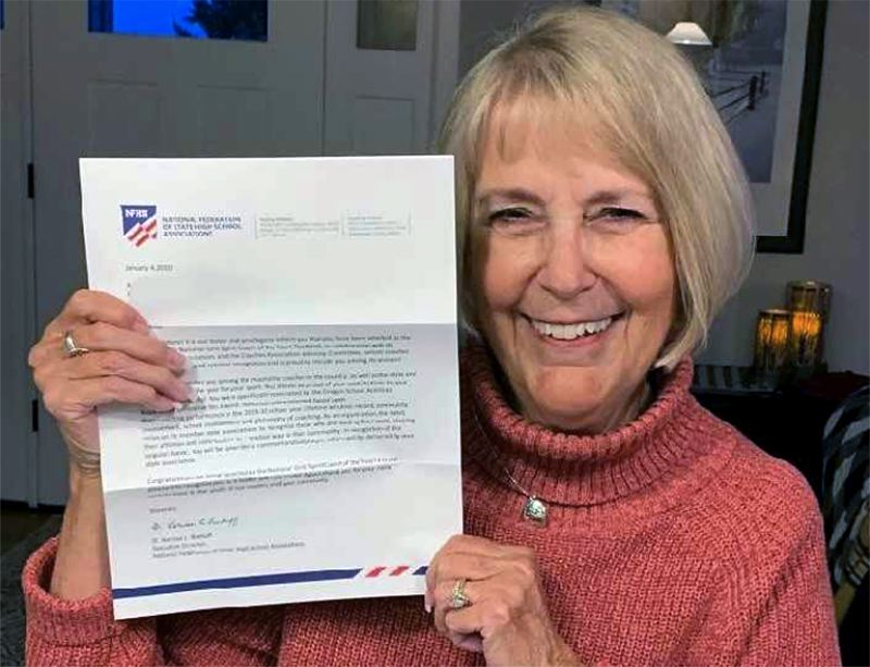 COURTESY PHOTO - Centennial High School dance coach Anne Ellett — she's coached the Hi Cs for 55 years — was recently named the 2019-20 NFHS National Spirit Coach of the Year.