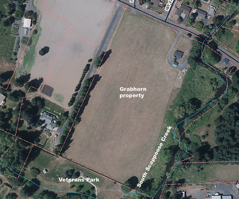 COURTESY PHOTO - A screenshot of the target Grabhorn property as it appears on a GIS aerial photograph.