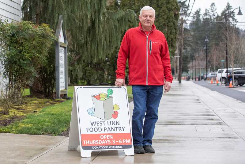 PMG PHOTO: JONATHAN HOUSE - The city of West Linn awarded Phil Rees the 2020 Robert Moore Award for his work with the West Linn Food Pantry.