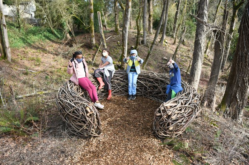 "COURTESY PHOTO: DAVE ARPIN - 'Nest"" by local artist Hannes Wingate is part of the interactive natural area of the park."