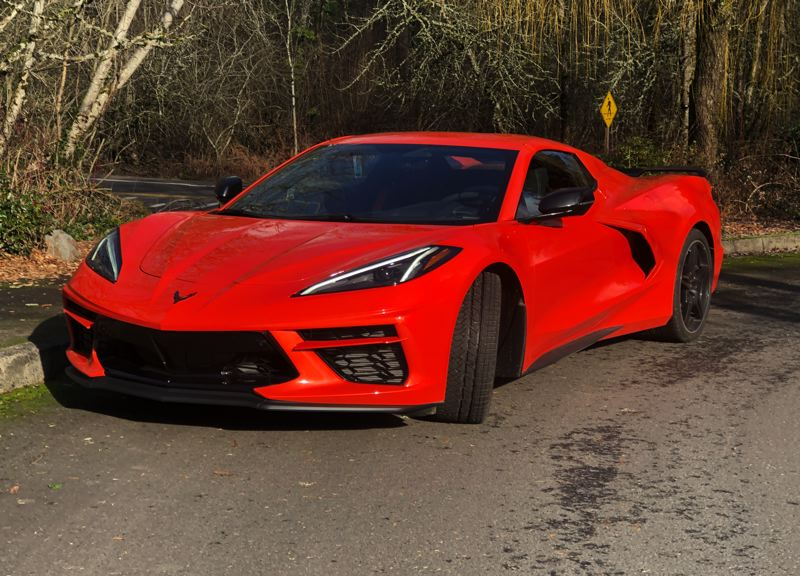 PMG PHOTO: JEFF ZURSCHMEIDE - The 2021 Chevy Corvette is a radical new design, but it is still powered by a V8 — located behind the driver now.