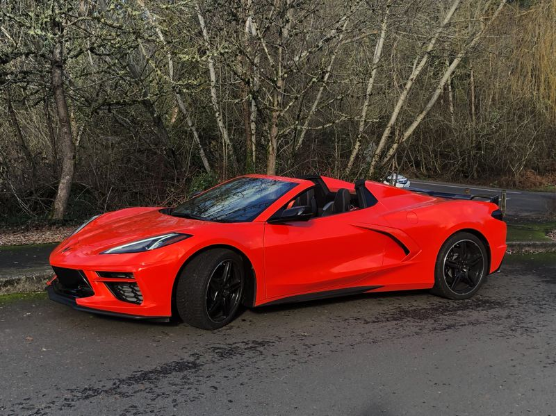PMG PHOTO: JEFF ZURSCHMEIDE - Even though it is now a mid-engine sports car, the heritage of the 2021 Chevy Corvette is unmistakable.