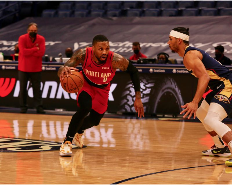 COURTESY PHOTO: BRUCE ELY/TRAIL BLAZERS - Damian Lillard is playing at an MVP level for the Trail Blazers. He scored 43 points with 16 assists as Portland won its sixth consescutive game Wednesday at New Orleans.