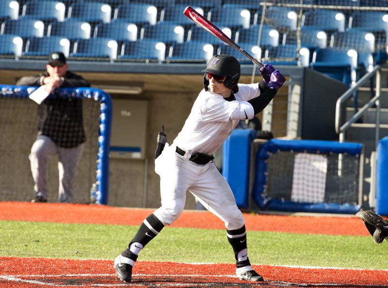 COURTESY PHOTO: UP ATHLETICS - Leadoff hitter Jake Holcroft was one of the top hitters in college baseball during the abbreviated 2020 season and was named a freshman all-American by Collegiate Baseball.