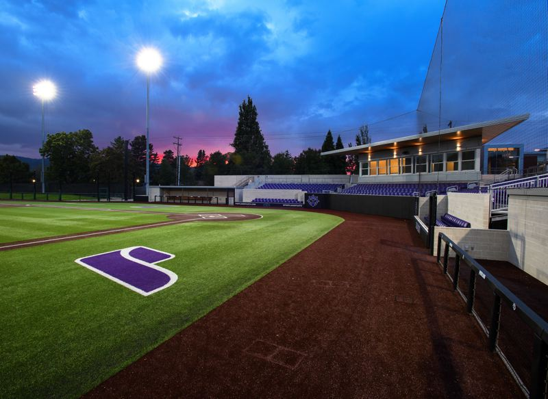 COURTESY PHOTO: UP ATHLETICS - Remodeled Joe Etzel Field is ready to host baseball at the University of Portland almost a full year after it was scheduled to open. Fans will have to wait for COVID-19 restrictions ease before attending a game at the campus stadium.