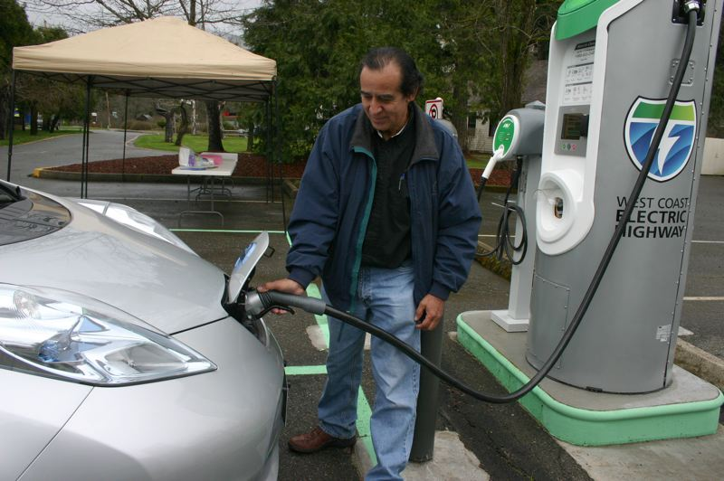 COURTESY: ODOT - A charging station that is part of the West Coast Electric Highway.