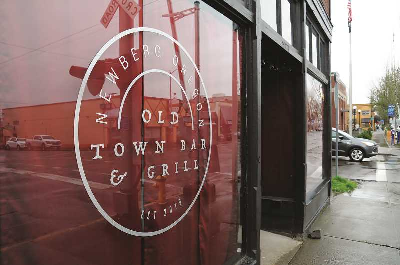PMG PHOTO: GARY ALLEN - Old Town Pub & Grill on First Street in Newberg have refused to comply with state and county orders to cease in-house service of food and drink.