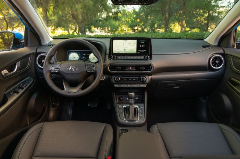 COURTESY HYUNDAI - The interior of thr 2021 Hyundai Kona.