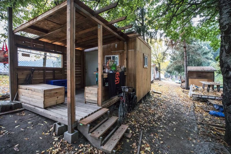 FILE PHOTO - Tiny houses in Hazelnut Grove are shown here in 2017.