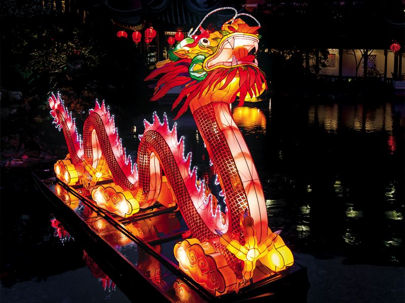 COURTESY PHOTO: LAN SU CHINESE GARDEN - The new, 18-foot phoenix lantern at the Lan Su Chinese Garden is something to behold.
