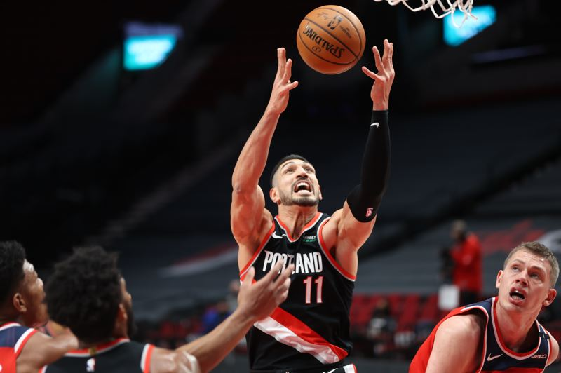 COURTESY PHOTO: BRUCE ELY/TRAIL BLAZERS - Enes Kanter had a good game, but the Trail Blazers fell to Washington on Saturday, 118-111.