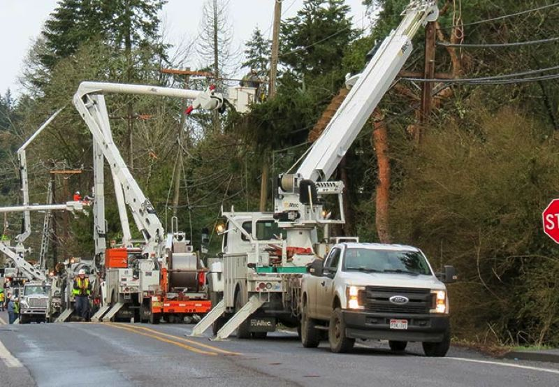 COURTESY PICTURES: PGE - PGE crews working near West Linn.
