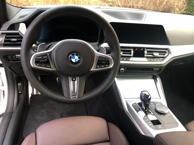 PMG PHOTO: JEFF ZURSCHMEIDE - Inside, the 430i gives you all the luxury, convenience and tech you've come to expect in a BMW.