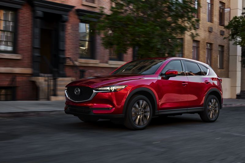 COURTESY MAZDA - The 2021 Mazda CX-5 Signature AWD is an attractive compact crossover that can be ordered with sophisticated all-wheel-drive system.