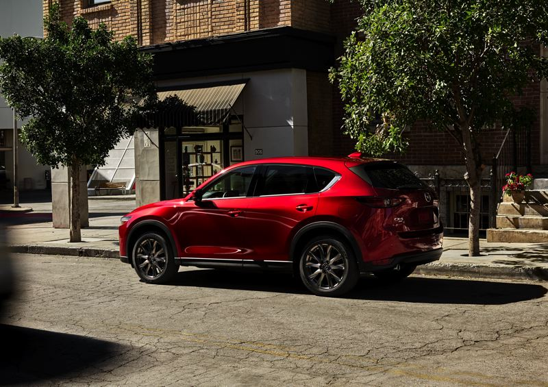 COURTESY MAZDA - The 2021 Mazda CX-5 Signature AWD is styles to look sharp from all angles.