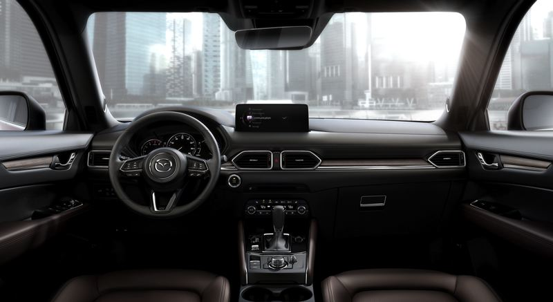 COURTESY MAZDA - The interior of the 2021 Mazda CX-5 Siganture AWD is refreshingly clean and modern.