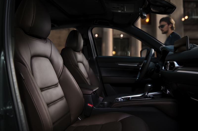 COURTESY MAZDA - The front bucket seats in the 2021 Mazda CX-5 Signature AWD are comfortable enough for long road trips.