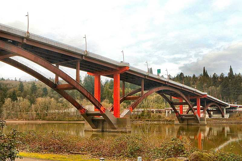 DAVID F. ASHTON - Traffic rolled over the Sellwood Bridge on February 8 - drivers unaware that inspectors were underneath the deck, examining every inch of the superstructure.
