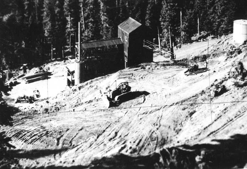 PHOTO COURTESY OF BOWMAN MUSEUM  - Mother Lode Mine on Lookout Mountain is shown in 1960.