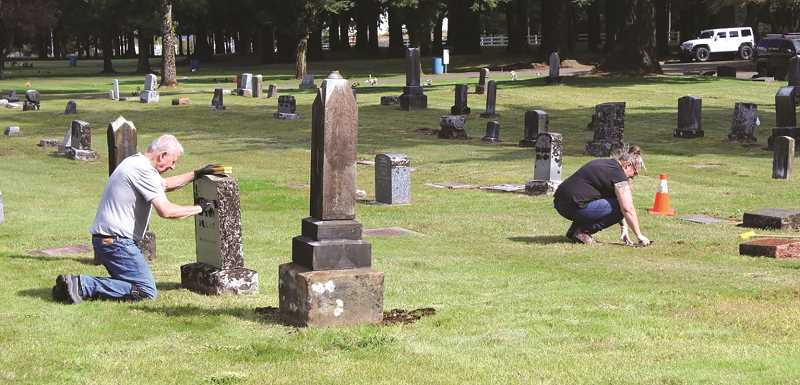 PMG FILE PHOTO - Historic cemeteries, such as Zion Memorial Cemetery in Canby, are eligible for grant funding for a variety of projects such as repairing headstones, improving roads and signs or managing records.