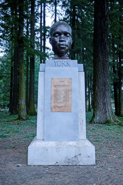 COURTESY PHOTO: MICK HANGLAND-SKILL/PORTLAND PARKS & RECREATION - The bust of York occupies a pedestal where a sculpture of Oregonian publisher Harvey W. Scott once stood.