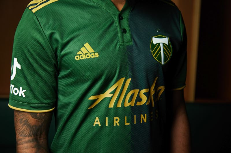 COURTESY PHOTO: PORTLAND TIMBERS - The 2021 Timbers primary jersey has two shades of green.