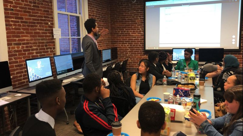 COURTESY PHOTO: REAP - One of nonprofit REAP's many in-school and after-school offerings for Portland-area kids who don't have many advantages is the Young Entrepreneurs Program. It teaches business skills, including marketing and networking as much as bookkeeping and labor law.