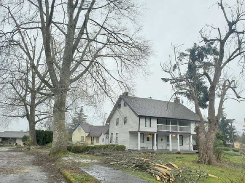 COURTESY PHOTO - The Holmes House in Oregon City, the oldest American home in the state, survived last month's ice storm.