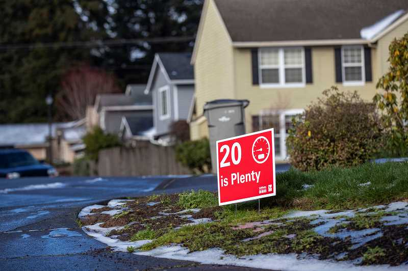 PMG PHOTO: JAIME VALDEZ - The new '20 is Plenty' ordinance was passed by the Tigard City Council on Feb. 23.