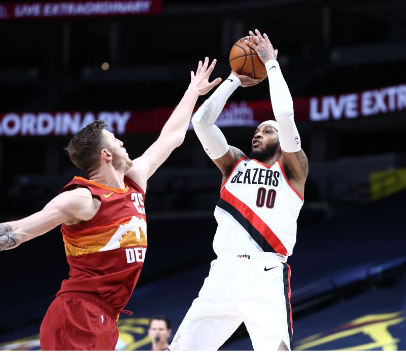 COURTESY PHOTO: BRUCE ELY/TRAIL BLAZERS - Carmelo Anthony and the Trail Blazers open the second half of the NBA season March 11 versus Phoenix.