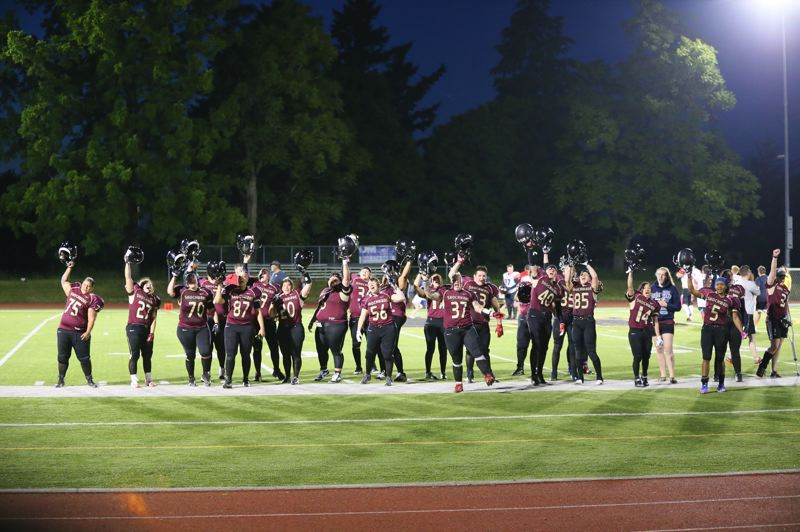 COURTESY PHOTO: PORTLAND FIGHTING SHOCKWAVE - The Portland Fighting Shockwave are hoping for a chance to return to the field in 2021, and maybe even salute their fans.
