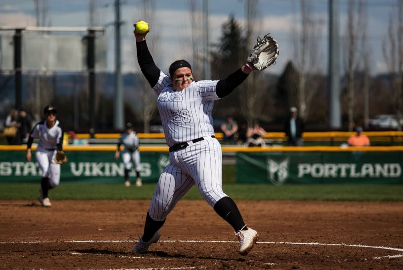 COURTESY PHOTO: PORTLAND STATE ATHLETICS/MEGAN CONNELLY - Katie Schroeder, a fifth-year senior, is the most experienced of Portland States' seven pitchers