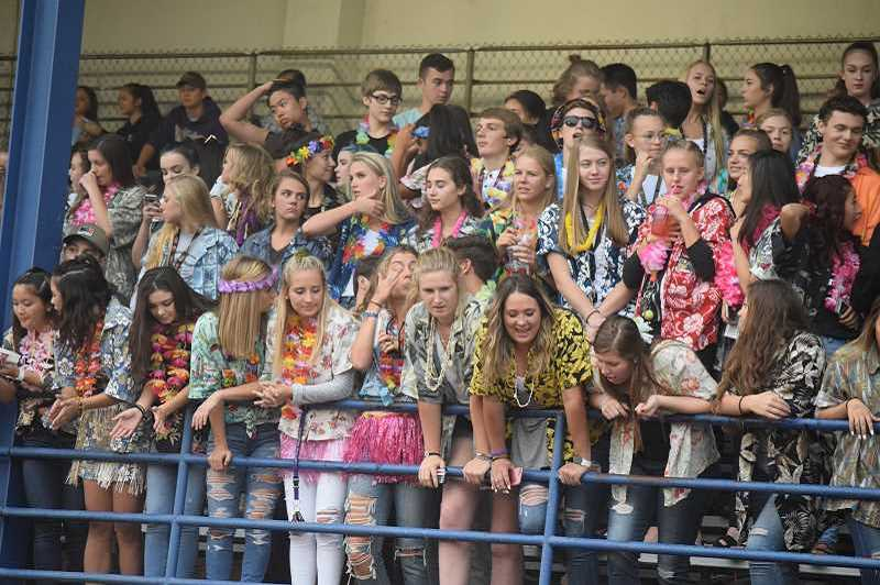 PMG FILE PHOTO - Fans cram into the stands at a previous Canby High School football game. According to an announcement from the Three Rivers League principals, no spectators will be allowed at sporting events this year.