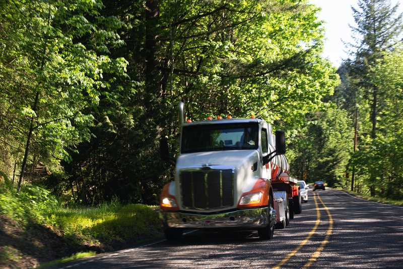 PMG PHOTO: ANNA DEL SAVIO - A truck travels south on Northwest Cornelius Pass Road prior to the road closure in summer 2019., South County Spotlight - News